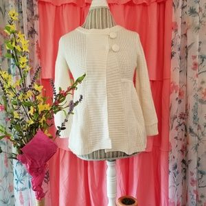 🌻🌺ANTHROPOLOGIE LIV WAFFLE KNIT BABYDOLL SWEATER